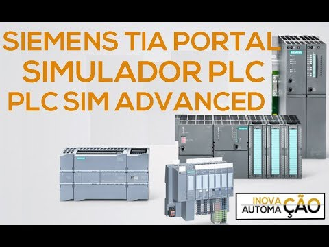 Siemens PLC Sim Advanced Software com TIA Portal para Simulador PLC CLP Download e Aplicação GET PUT thumbnail