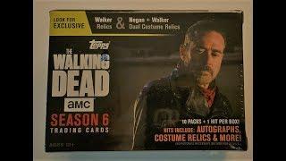 2017 Topps AMC'S The Walking Dead Season 6 trading cards. Negan costume relic.