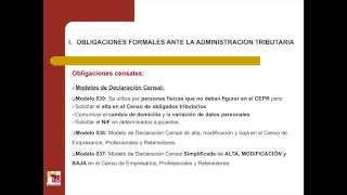 Lec3.4. Cumplimiento de obligaciones formales ante la Administración Tributaria (umh 1432sp 2014-15)
