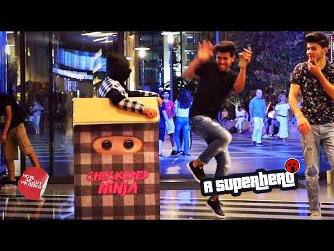Ninja In A Box Prank