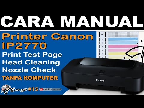 CARA DEEP CLEANING PRINTER IP 2770.