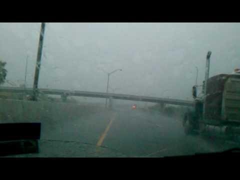 Hurricane Alex in mcallen,tx pounding rain