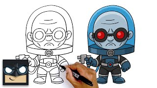 How To Draw Mr.Freeze  Step By Step Tutorial