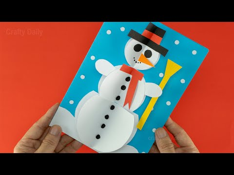 3D Snowman Christmas Card ☃️ DIY Christmas Decoration Ideas | Easy Christmas Crafts ☃️☃️