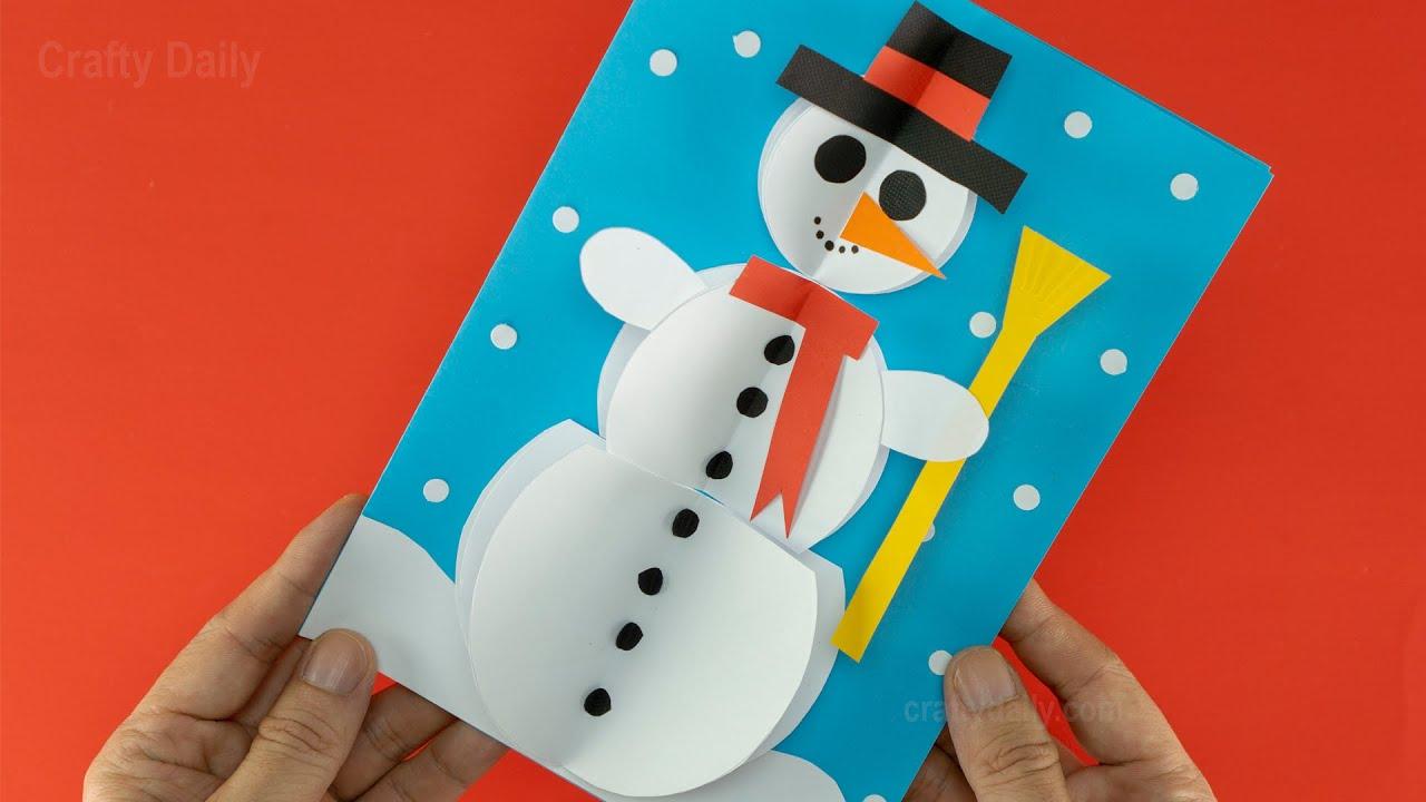 3d Snowman Christmas Card Diy Christmas Decoration Ideas Easy Christmas Crafts Youtube