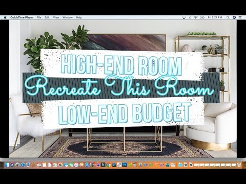 Recreate This Room: High End Room, Low End Budget | Modern Mid-Century [Part 1]