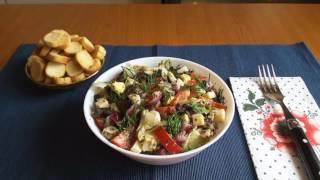 Spring salad. Salată de primăvară. Весенний салат.