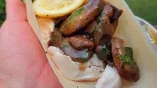 Lemon Chicken & Mushroom Paleo Wrap (keto / Paleo / Gluten Free)
