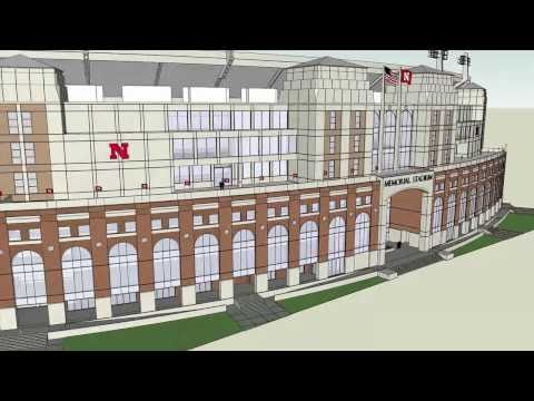 Nebraska Athletics East Stadium Expansion 3D Overview