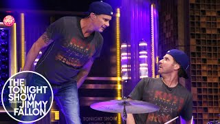 "Jimmy officiates Will and Chad's battle for the title of greatest drummer on the Tonight Show that ends in a surprise performance of ""Don't Fear the Reaper"" from ..."