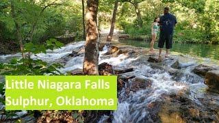 Little Niagara Falls, Sulphur, Oklahoma. Pure Artesian spring water