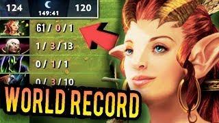 WTF ENCHANTRESS 61 KILLS 2000 GPM 99999 GOLD WORLD RECORD Dota 2