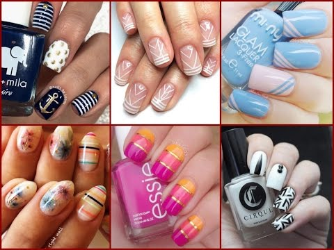 Striping Tape Nail Art Design 50 Easy Nail Art Ideas Youtube