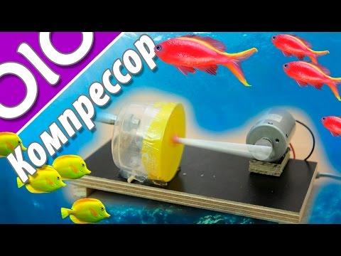 Как сделать компрессор для аквариума своими руками? мини воздушный компрессор. #olo