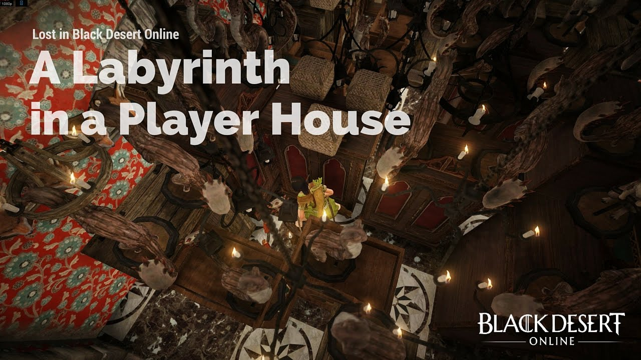 Black Desert Online A Labyrinth In A Player House Youtube