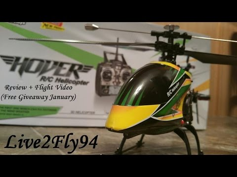 WL Toys V912 Hover - Review + Indoor Flight Video (Free Giveaway Soon)