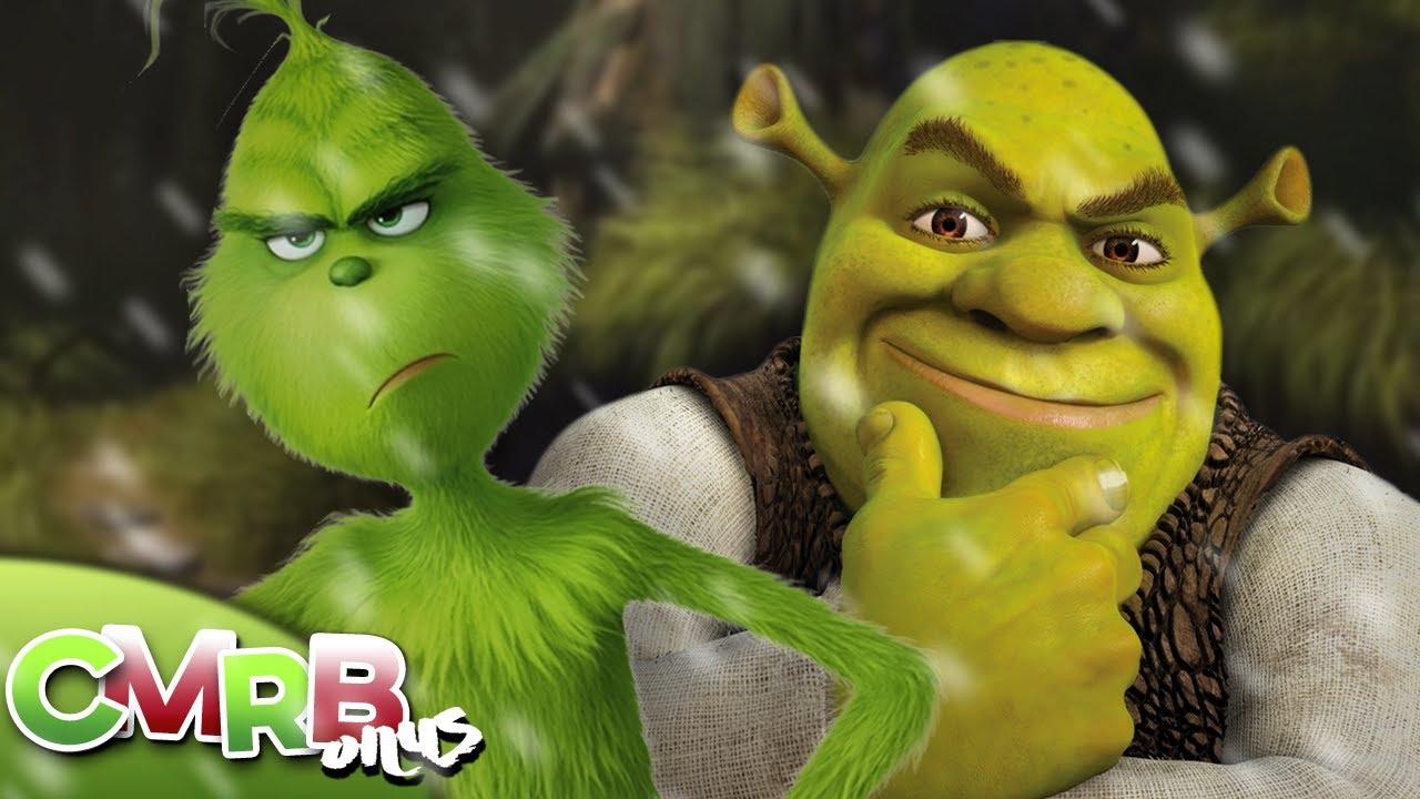 Shrek Christmas.The Grinch Vs Shrek Rap Battle Christmas Special