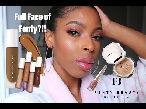 Fenty Pro Filtr鈥� Foundation 385, Instant Retouch Concealer + Setting Powder Review  馃槺 #thecure