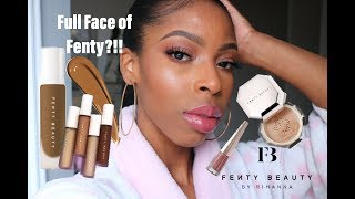 Fenty Pro Filtr' Foundation 385, Instant Retouch Concealer + Setting Powder Review  😱 #thecure
