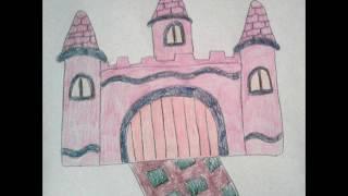 Рисуем сказочный замок - Draw fairy-tale castle - 绘制的童话般的城堡