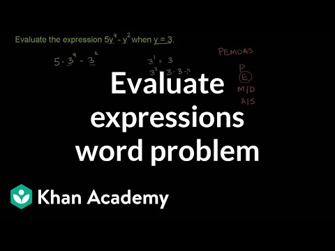 Evaluating an algebraic expression with exponents | 6th grade | Khan Academy