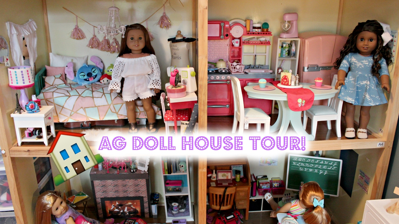 huge american girl doll house tour updated 2017 youtube