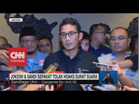 Jokowi & Sandi Sepakat Tolak Hoaks Surat Suara Mp3