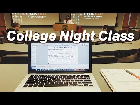 NIGHT CLASSES IN COLLEGE | is it worth it?