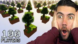 I Gave 100 Players One Chunk To Build A Custom Skyblock Island