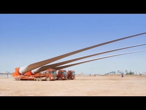 Extreme Trucks - Carrier Huge Blades of Wind Turbines