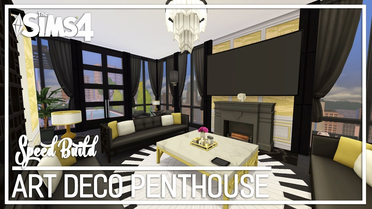 The sims 4 speed build art deco penthouse youtube Art deco penthouse