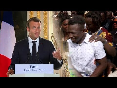 Paris migrant hero dubbed 'Spiderman' rewarded by French president after heroic act