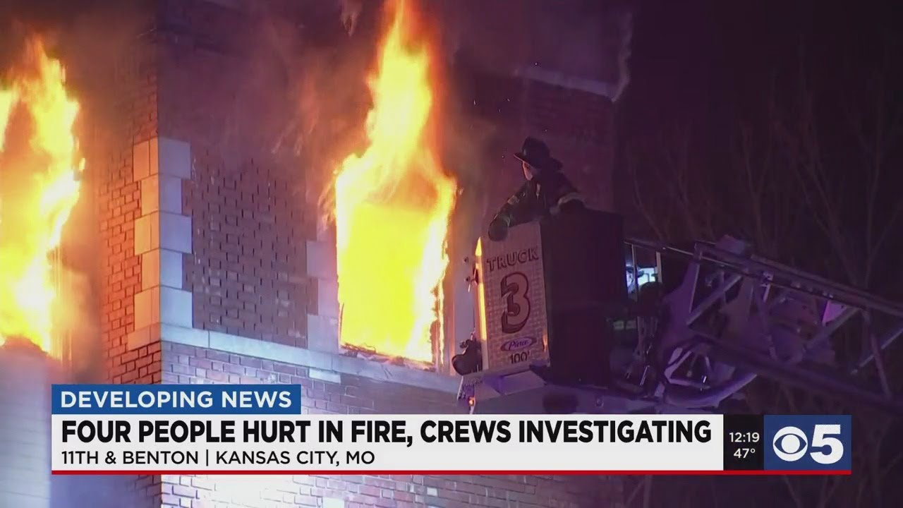 Two firefighters hospitalized after battling 4-alarm apartment fire in ...