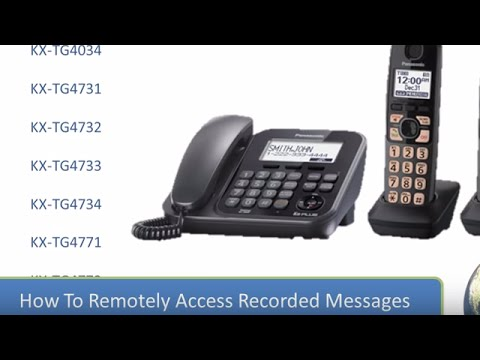 2013 Models - How to Access messages remotely from your Panasonic Cordless  telephone