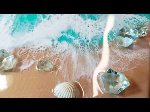 Resin epoxy art, How to make resin ocean waves PART 1