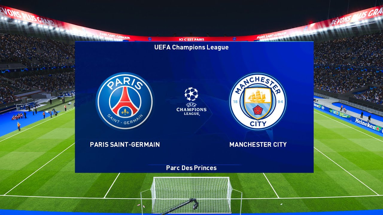 PSG Vs Manchester City | Semi-Final | Champions League 2021 Gameplay -  YouTube