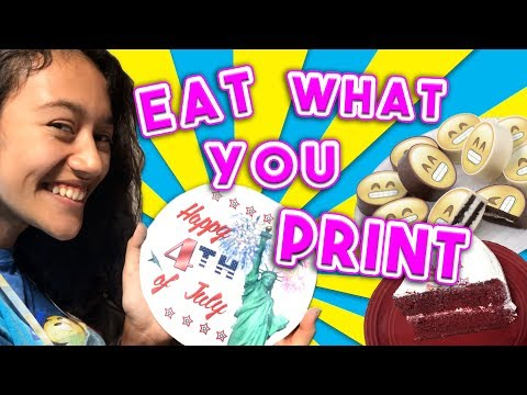Eat What You Print With Edible Printing!