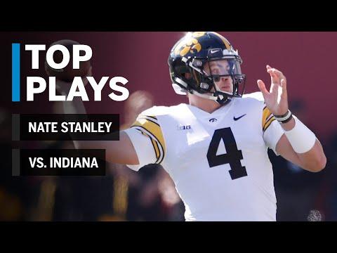 Top Plays: Nate Stanley Highlights vs. Indiana Hoosiers | Iowa | Big Ten Football