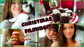 CHRISTMAS FILMING + STARBUCKS LOVE!! Vlogmas Day 4! Thumbnail
