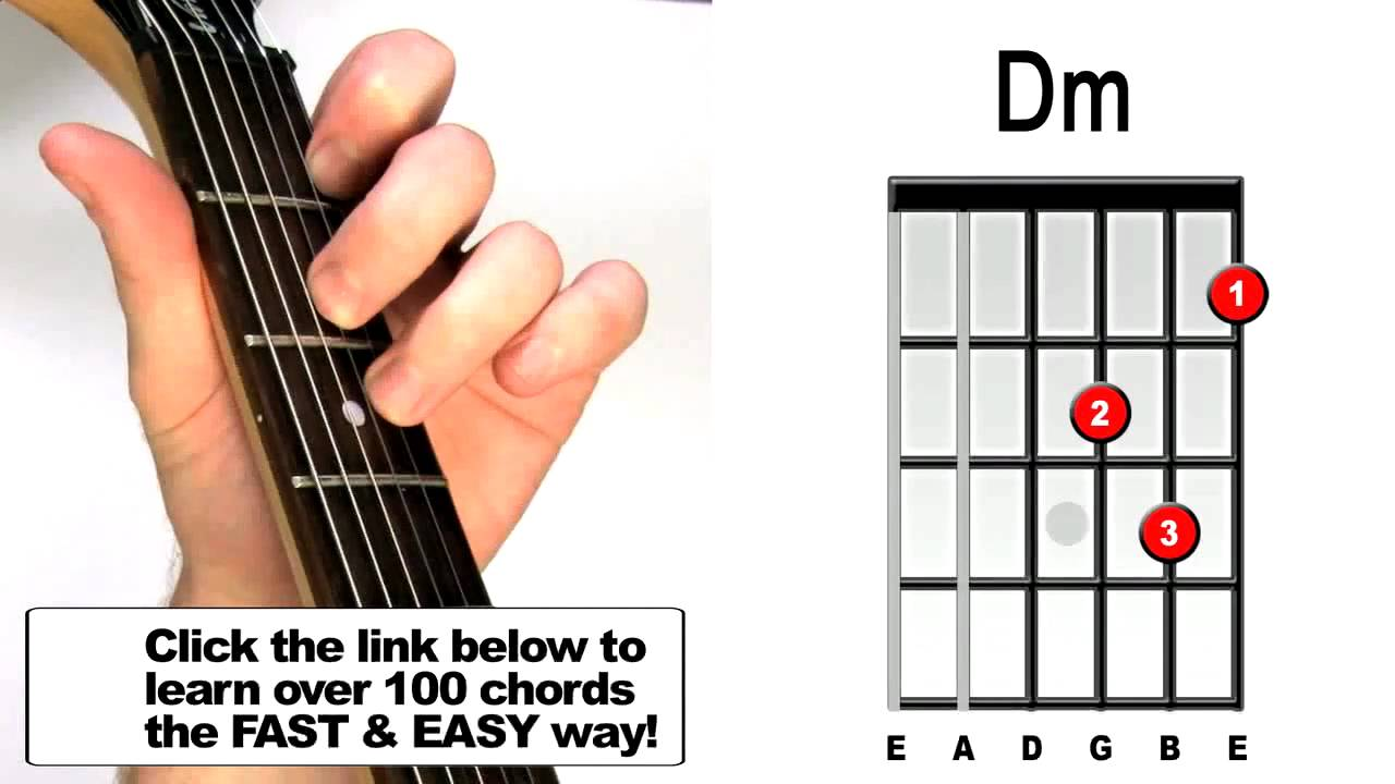 How To Play D Minor Guitar Chords For Beginners Youtube