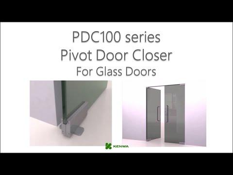 Pdc100 Pivot Door Closer For Glass Doors Youtube