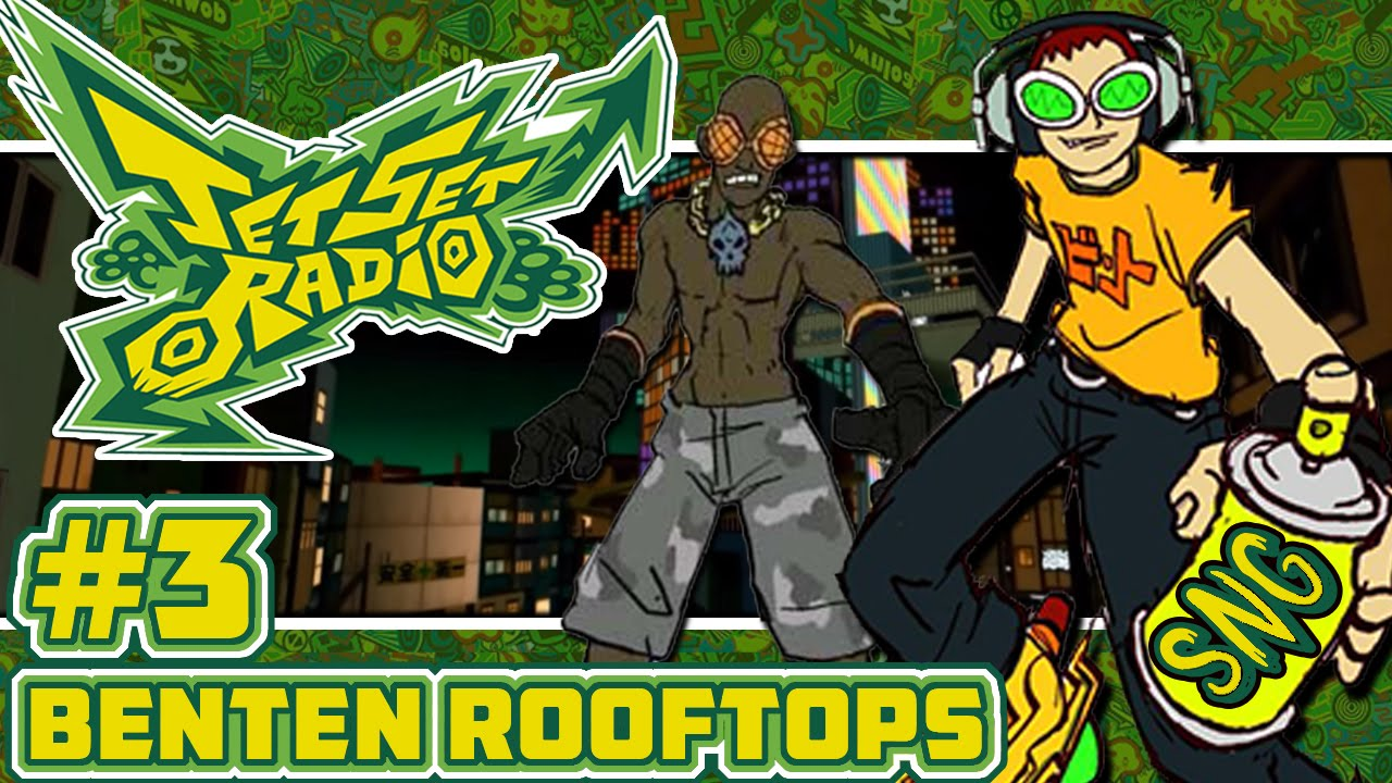 Jet Set Radio Hd Part 3 Benten Rooftops Garam Rival Battle