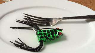 How Make Frog Lure 1 Hook From Cork and Solution Against Weeds(9)DIY-Fishing Tips - Nhái 1 Móc