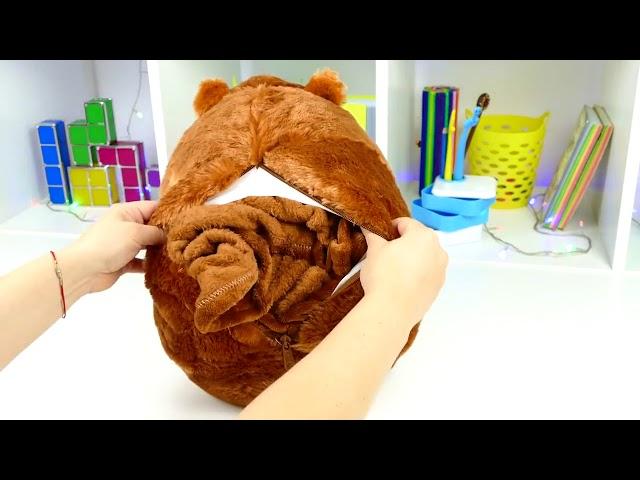 Супер подарок - хомячок 3в1! Подушка игрушка хомяк с пледом внутри Обзор. Оптом и в розницу