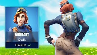 FORTNITE THICC: New Airheart skin gameplay (BEST?)