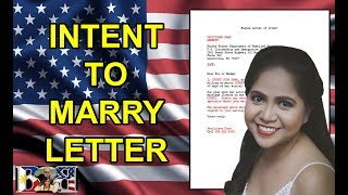 K1 Visa INTENT TO MARRY LETTER SAMPLE! Include on your I-129F Packet! Download in our Website!