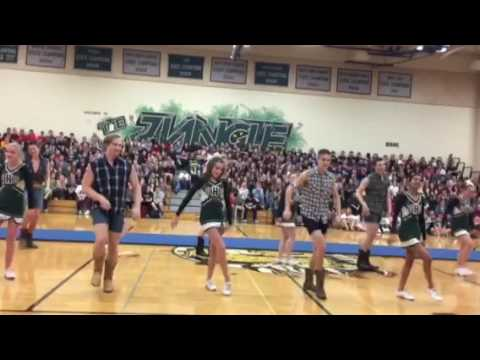 Pep rally 2017 hoedown throwdown with basketball boys
