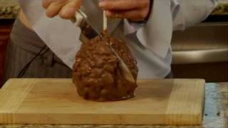 How to cut and serve a Mrs. Prindable's gourmet jumbo apple gift