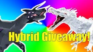 Hybrid Giveaway! Albino Terror & Megavore! - Roblox Dinosaur Simulator