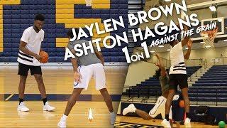 Boston Celtics Guard Jaylen Brown vs 5-Star Ashton Hagans EPIC 1 on 1 #AgainstTheGrain